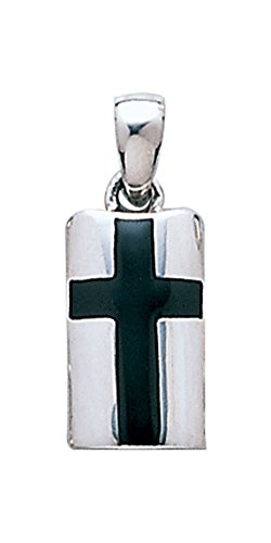 (Jewelry Trends Sterling Silver Celtic Cross Pendant Created Black)