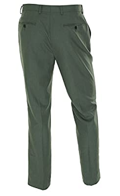 Calvin Klein Men's Slim Fit Flat Front Dress Pants 33W x 30L Grey