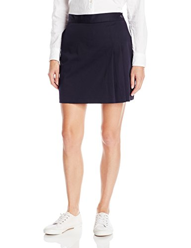 uniors Stretch Double-Pleated Scooter, Dark Navy, 3/4 ()