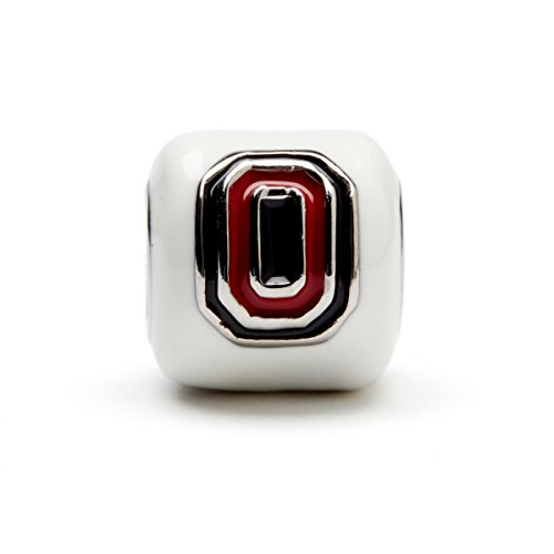- Ohio State University Charm | OSU Buckeyes - White Block O Bead Charm | Officially Licensed Ohio State University Jewelry | OSU Gifts | OSU Logo | OSU Charms | Stainless Steel
