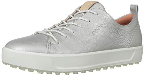 ECCO Women's Soft Low Hydromax Golf Shoe, alusilver Metallic, 39 M EU (8-8.5 US)