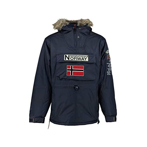 chollos oferta descuentos barato Geographical Norway Parka BOOMERANG hombre AZUL MARINO talla M