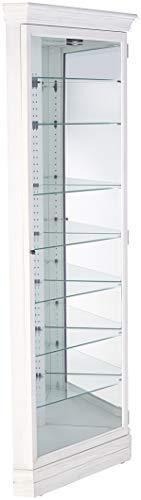 Howard Miller 680642 Curio Cabinet, Agend Linen - Howard Miller Contemporary Curio Cabinet
