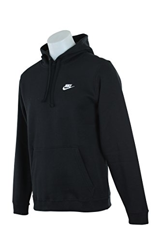 Nike Mens Sportswear Pull Over Club Hooded Sweatshirt - XX-Large - Black/White