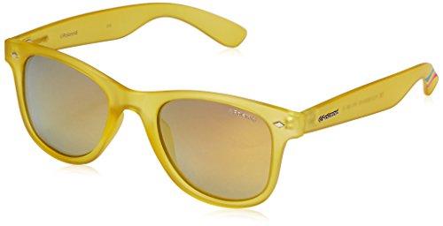 Polaroid Sunglasses PLD6009NM Wayfarer Polarized Sunglasses, Transparent Yellow & Gray Gold Mirror, 50 - Amazon Mirror Glasses
