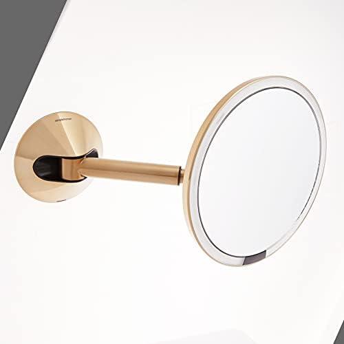 simplehuman 8″ Round Wall Mount Sensor Makeup Mirror 5x Magnification