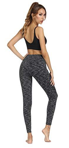 Fengbay High Waist Yoga Pants, Pocket Yoga Pants Tummy Control Workout Running 4 Way Stretch Yoga Leggings (X-Small, 9622 Black) by Fengbay (Image #3)
