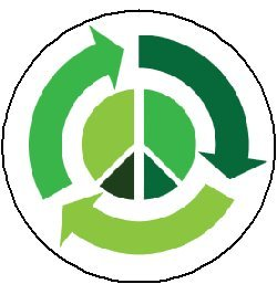 Reduce Reuse Recycle Peace Sign MAGNET - Environmentalist / Save the Earth / Go Green ()