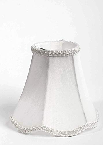 Urbanest 1100255b Scallop Chandelier Mini Shade 6-inch, Clip On, Off White, (Set of 5)