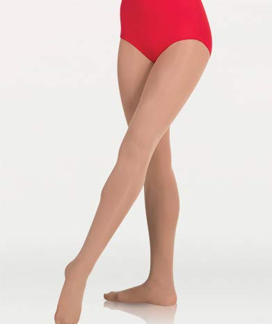 Body Wrappers Plus Size Total Stretch Footed Tights (A30X) -Light SUNT -3X4X (Dance Tights Plus)