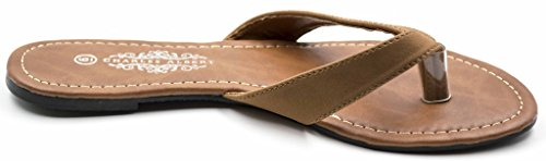Charles Albert Womens Basic String Flip Flop Sandaal Cognac Pu
