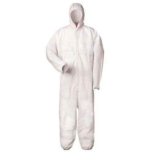 XL Multi Schutzanzug gegen Chemie, Staub, Nuklearpartikel - antistatischer Schutz-Overall Kat III, Typ 5 und 6 XL,weiß