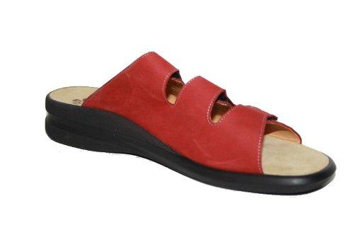 Ganter - Zuecos de Piel para mujer Rojo - Vino