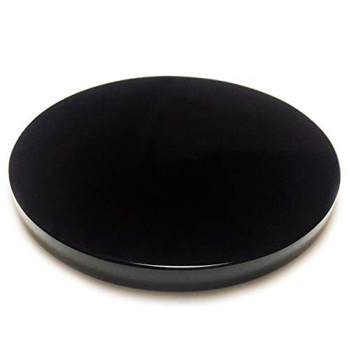 Polar Jade Natural Black Obsidian Stone Scrying Mirror 100 mm / 4.0