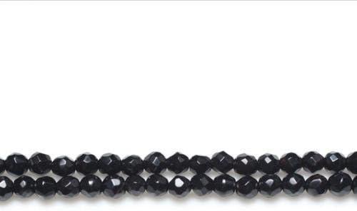 Filo 110 Nero Onice 3mm Tondo Sfaccettato Perline GS10074-2 Charming Beads