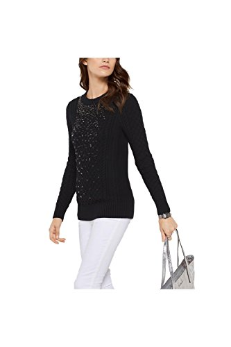 Michael Kors Embellished Wool-Blend (Black) (Michael Kors Black Wool)