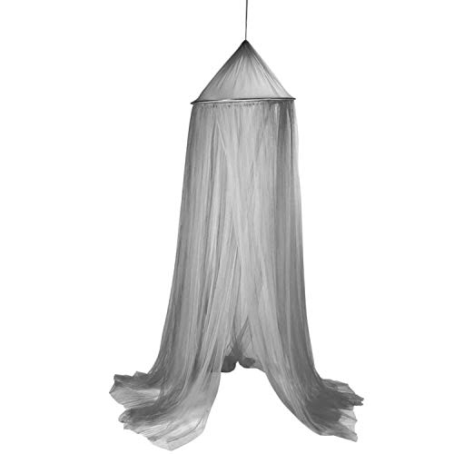 12' Pink 50 Sheets - Three Door Hanging Kid Bedding Round Dome Bed Canopy Bedcover Mosquito Net Curtain Home Bed Crib Tent Hung Dome Net Yarn 240CM,Gray