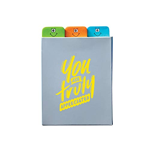 (Value Emoti Notepad Set - Three Tabbed Sticky Pads and Laminated Cover - You Are Truly Appreciated - Appreciation and Recognition Gifts)