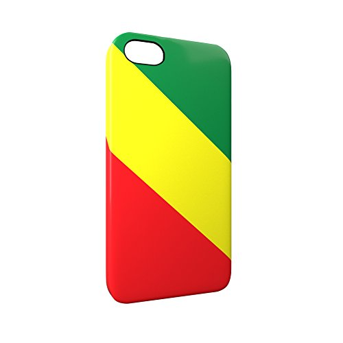 Flag of Congo Glossy Hard Snap-On Protective iPhone 5 / 5S / SE Case Cover