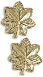 Army Major 22K Gold Collar Device Rank Insignia Pair
