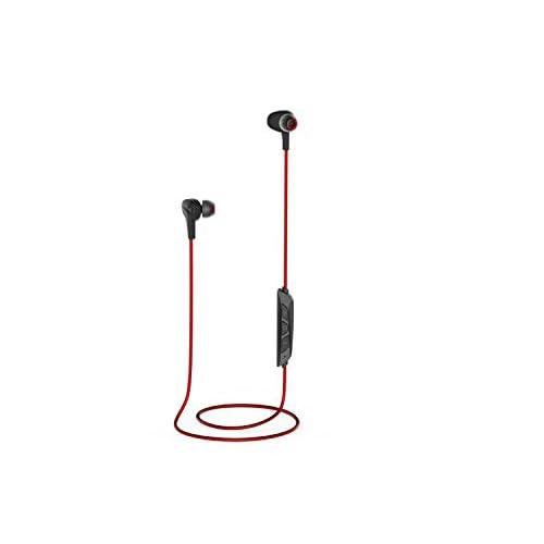 Mini Écouteurs Bluetooth 4.1 Magnétique Slim Léger Intégré Mic Annulation de Bruit Pour L'entraînement Courir Jogging Gym Bluetooth Casque (Noir Rouge)