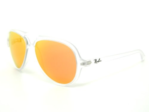 Ray Ban Cats 5000 RB4125 646/69 Clear/Crystal Brown Mirror Orange 59mm ()