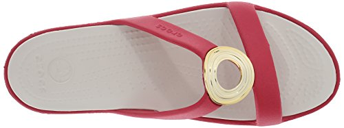 Women's Crocs Sandal Circle Stucco Sanrah Beveled Pepper Bx1qafw