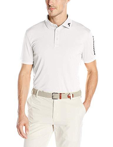- J.lindeberg Men's Classic Tour Tech Jersey Polo Shirt,White,Medium