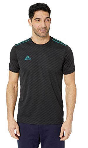 adidas Men's AFS Tiro Jersey Black/Active Green Small Adidas Mens Soccer Jersey