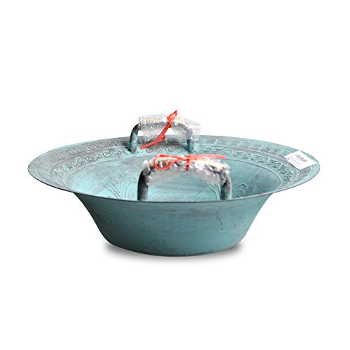 (American-Brand Fristaden Lab Resonance Bowl | Learn How Sound Waves Work Bronze | Engraved with Han Dragons | Chinese Spouting Bowl For Classroom Education, Science Experiments)