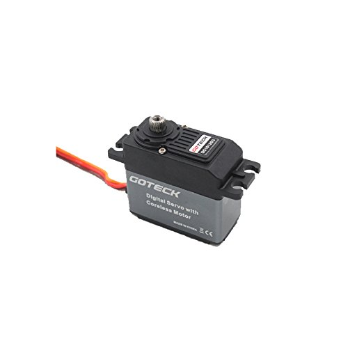 Model Aircraft Servos (Goteck DC1612S Digital Metal Gear 53g 12 High Torque Coreless Servo for RC Car Model/ Fixed-wing)