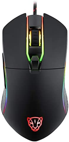 Non-Slip Wheel Design USB Interface Colorful Backlit Mouse Fast Response for PC//Tablet//Laptop Portable Travel Mouse Wired Gaming Mouse