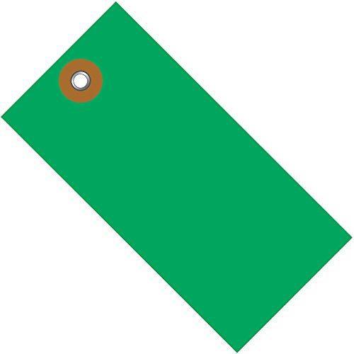 Tyvek Spunbonded Olefin Green Shipping Tags, 4 3/4