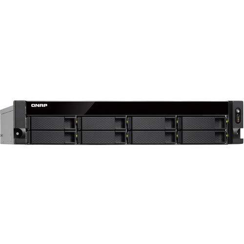 QNAP TS-832XU-4G-US 2U 8-Bay ARM-Based 10G NAS, Quad Core 1.7GHz, 4GB DDR3 RAM, 2 x 10GbE SFP+, 2 x GbE, Single Power Supply (not upgradeable) ()