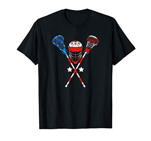 4th Of July American Flag Patriotic Lacrosse T-Shirt