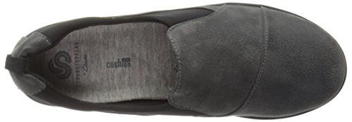 CLARKS Damen CloudSteppers Sillian Paz Slip-On Loafer Graues synthetisches Nubuk