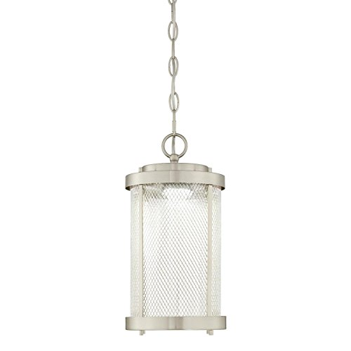 Brushed Nickel Outdoor Hanging Light