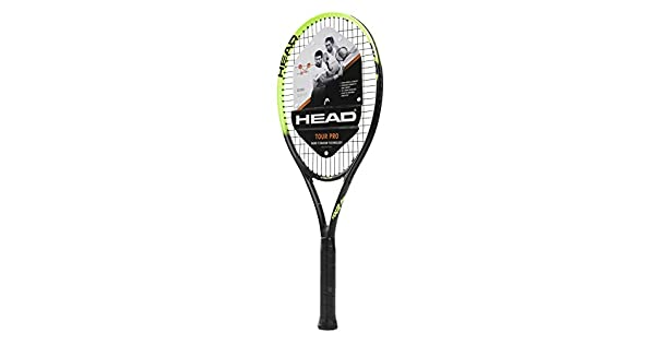 Amazon.com: Head Tour Pro - Raqueta de tenis (preajustada ...