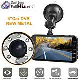 310 Car - Dual dash car cam, Mi Yang FHD 1080P camera front and rear with night vision,2 channel 310° wide angle lens 4