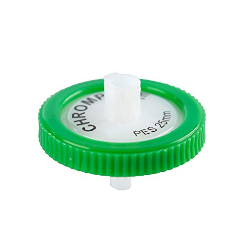 - Syringe Filter, Membrane Solutions Lab Supply Filter PES, 0.22 Micron Pore Size, 25mm Diameter, Pack of 10