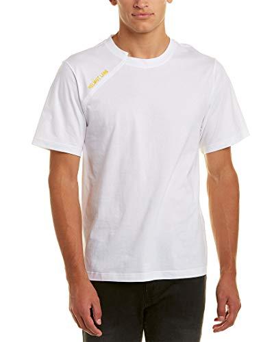 Helmut Lang Mens - Helmut Lang Mens Cut Neck T-Shirt, L, White