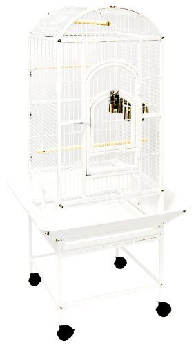 "UPC 030157903862, Avian Premier Slide Open Dome Bird Cage, 18"" x 18"" x 58"", White"