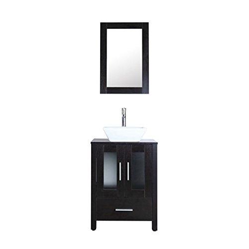 Goodyo 24 inch Bathroom Vanity Cabinet Combo Set with Wood Grain Texture -