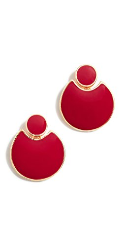 Kenneth Jay Lane Polished Doorknocker Earrings Kenneth Jay Lane Red Earrings