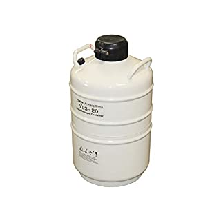 HFS 20 liter (4.4 Gallon) Liquid Nitrogen Ln2 Cryogenic Tank with Straps and Carry Bag…