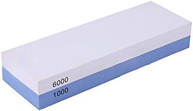 NUZAMAS Premium cuchillo afilado piedra 2 lado arena 1000//6000 piedra de afilar cocina-afilador de cuchillos Waterstone base antideslizante