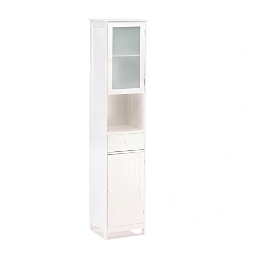 Lakeside Tall Storage Shelving Display Organizing Cabinet