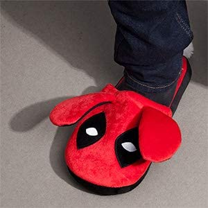 Deadpool Red Bunny Slippers Marvel Unisex Loot Crate Exclusive