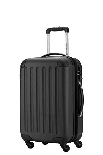 HAUPTSTADTKOFFER - Koffer Handgepäck Spree Trolley Hartschale, 55 cm, 49 Liter, matt, Schwarz
