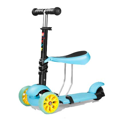 PENGHUI Scooter Asiento Ajustable 3 en 1,Patinetes para ...